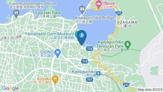 Kawaguchiko Hotel Map