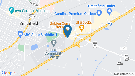 Hampton Inn by Hilton Smithfield Selma Map