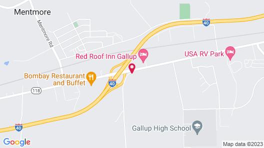 Hampton Inn Gallup - West Map