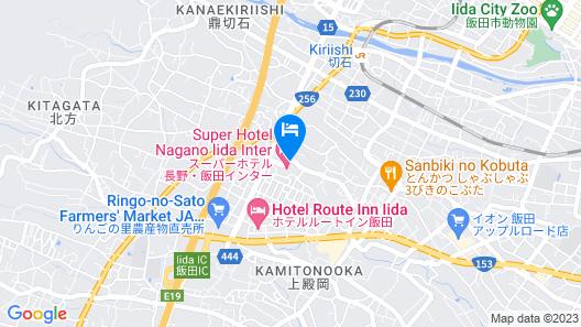 Super Hotel Nagano Iida Inter Map