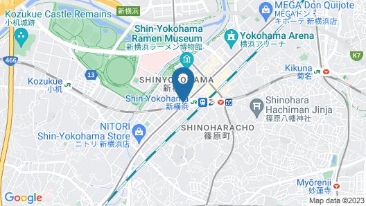 Toyoko Inn Shin-yokohama Ekimae Shinkan Map