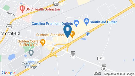Fairfield Inn & Suites by Marriott Smithfield Selma/I-95 Map