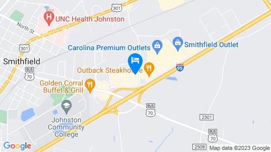 Sleep Inn & Suites Smithfield near I-95 Map
