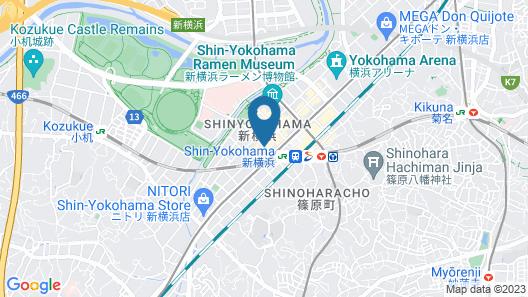 Best Western Hotel Fino Shin-Yokohama Map