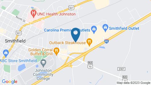 Comfort Inn Smithfield near I-95 Map
