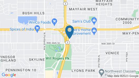 WoodSpring Suites Oklahoma City Northwest Map