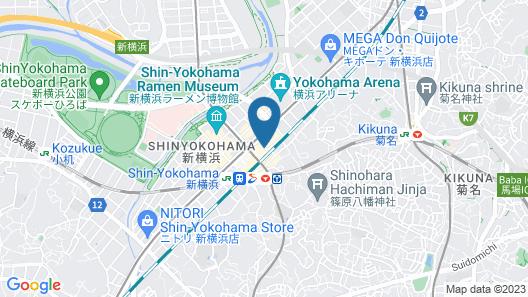Shin-Yokohama Grace Hotel Map