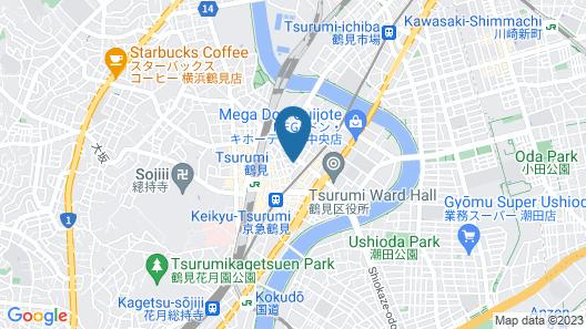 HOTEL LiVEMAX Yokohama-Tsurumi Map