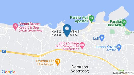 Chania Beach Area Suite balcony, sea view, Walk to Beaches, free internet Map