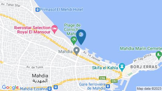 LTI Mahdia Beach & Aqua Park Map