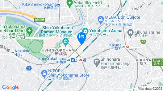 Shin Yokohama Prince Hotel Map