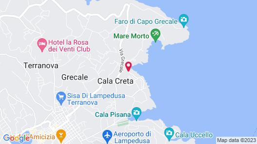 Albergo I Dammusi Di Borgo Cala Creta Map
