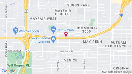 Motel 6 Oklahoma City, OK Map