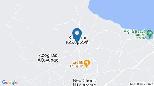 Kaliviani Traditional Hotel Map
