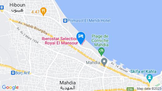 Hotel Topkapi Beach Map