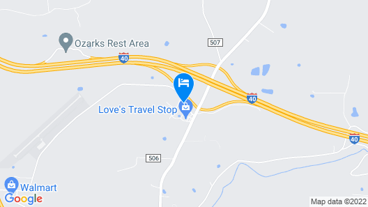 Motel 6 Ozark, AR Map