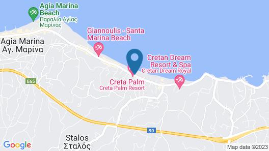 Creta Palm Hotel Map