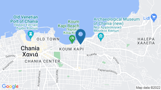 Chania Hostel Map