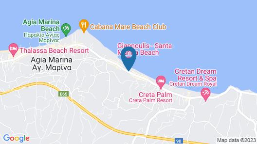 Giannoulis – Santa Marina Beach Map