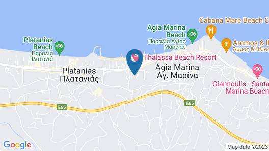 Dimitra & Evdokia Hotel Map