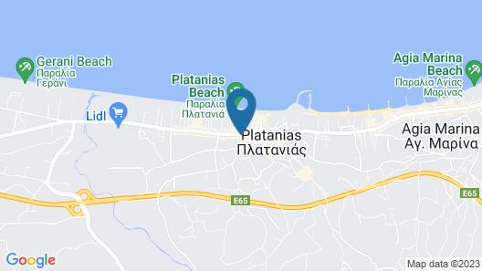 Athina Apartments Map