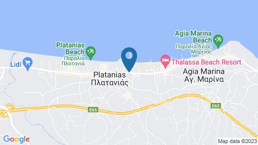 Porto Platanias Village Map