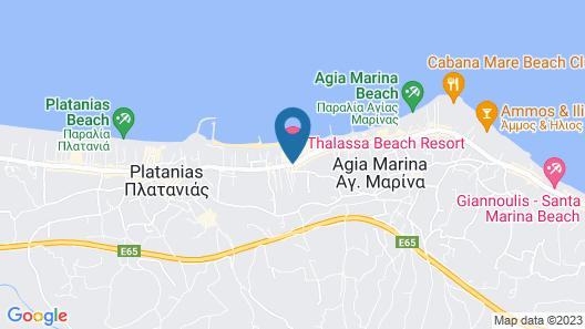 Thalassa Beach Resort - Adults Only Map