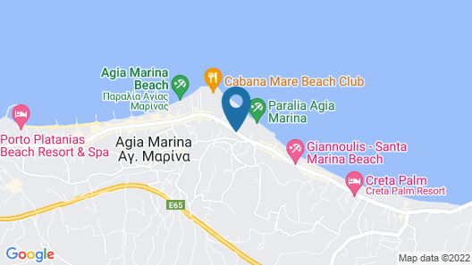 Atlantica Amalthia Beach Hotel – Adults only Map