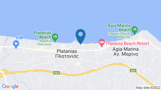 Porto Platanias Beach Resort & Spa Map