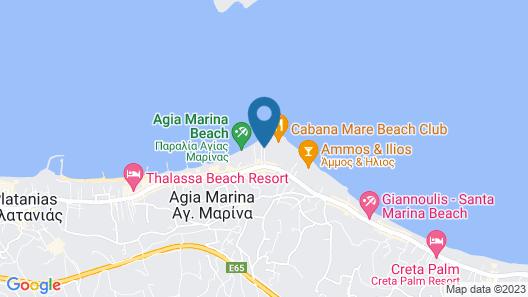Elia Agia Marina Hotel Map