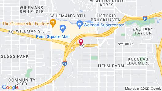 Courtyard by Marriott Oklahoma City Northwest Map