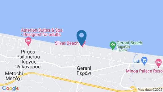 Silver Beach Hotel - All inclusive Map
