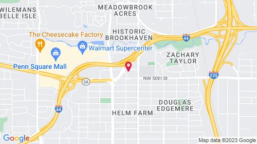 Sleep Inn & Suites Oklahoma City Northwest Map