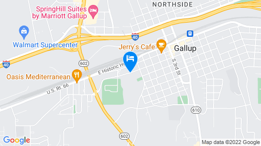 Best Western Plus Gallup Inn & Suites Map