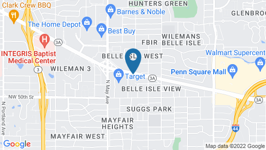 Extended Stay America Suites Oklahoma City NW Expressway Map
