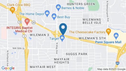 Hilton Garden Inn Oklahoma City Midtown Map