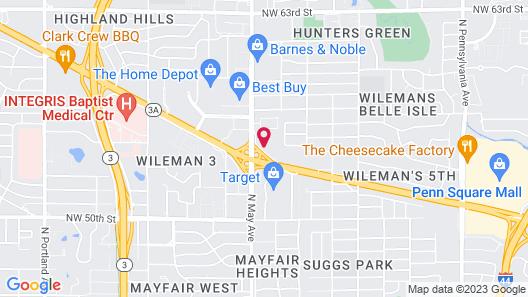 OYO Townhouse Oklahoma City-Penn Square Map