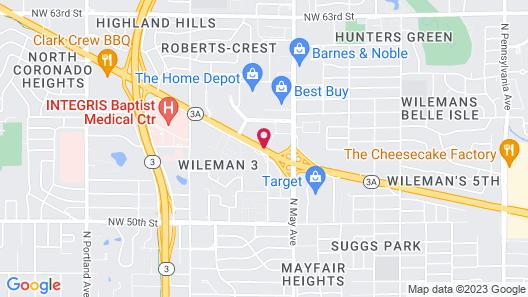 Radisson Hotel Oklahoma City Northwest Map