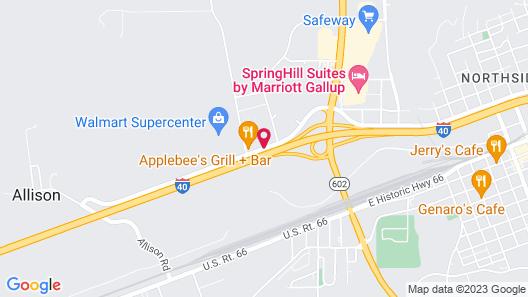 Hilton Garden Inn Gallup Map
