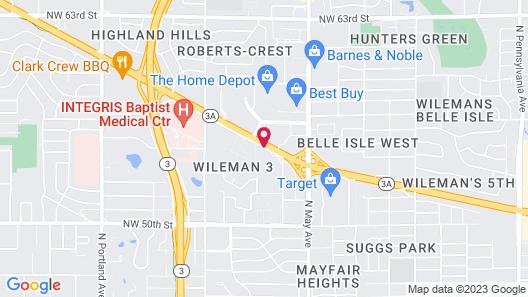 Hampton Inn Oklahoma City Northwest Map