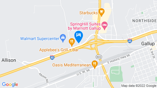 Quality Inn & Suites Gallup I-40 Exit 20 Map