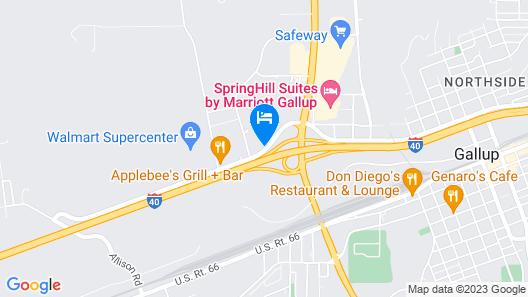 Comfort Inn Gallup I-40 Exit 20 Map