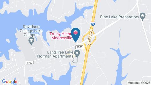 Aloft Mooresville Map