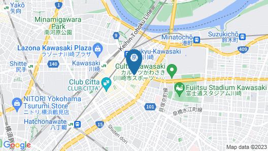 Sotetsu Fresa Inn Kawasaki-Higashiguchi  Map