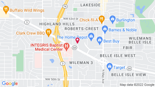 Embassy Suites by Hilton Oklahoma City Northwest Map
