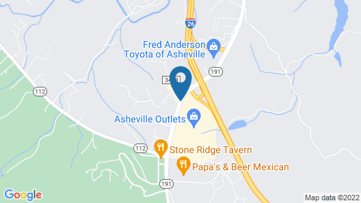 Country Inn & Suites by Radisson, Asheville at Asheville Outlet Mall, NC Map