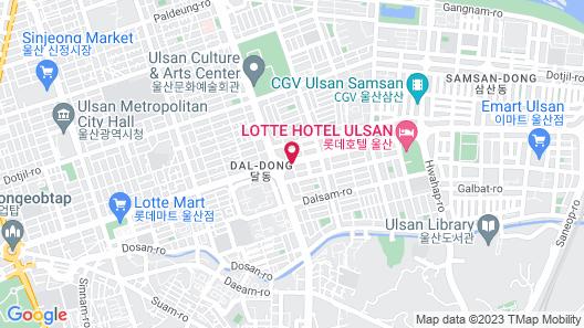 Shilla Stay Ulsan Map