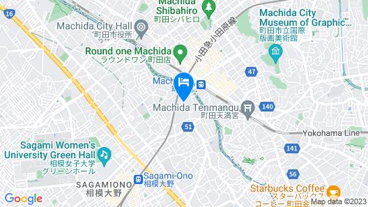 Hotel Rapport Senjukaku Map
