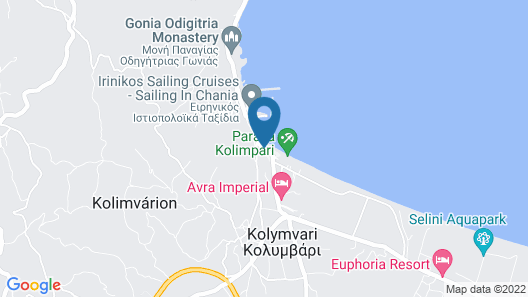 Avra Imperial Hotel Map