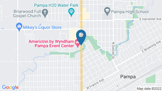 AmericInn by Wyndham Pampa - Event Center Map